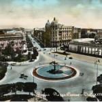 Piazza Cavour nel 1956