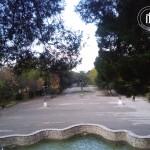 La villa vista dal tempietto