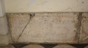 Tomba di patrizio foggiano del 1707
