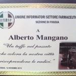 Premiazione da parte dell'Associazione informatori di Foggia al collega che si è maggiormente distinto fuori dell'ambito lavorativo nel 2010 16 dic 2010