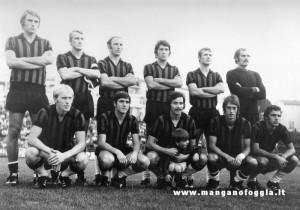 Serie A 1970-71, Rognoni è accosciato quarto da sinistra