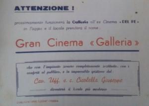 Annuncio della apertura del vecchio Cinema Del Re