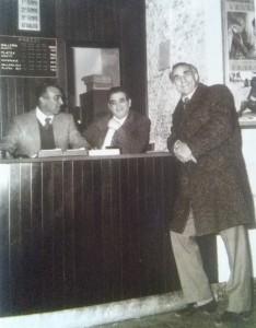 Cinema Ariston - da destra Renato Sbavaglia, Luigi Fasano, Alessandro Cagiano (1974)