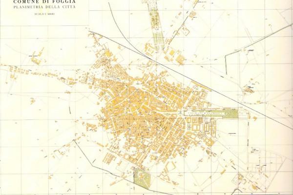 Foggia nel 1955  (fonte: Vincenzo Salvato - Foggia città territorio e genti)