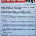 Manifesto di protesta affisso sui muri della città a seguito della decisione dell'abbattimento dell'arco di S.Michele