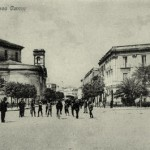 La Chiesa della Madonna della Croce a sinistra vista dalla villa