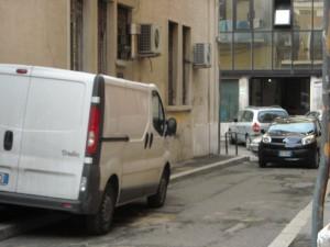 Questa foto rappresenta via Noto oggi e, nella direzione nella quale è stata scattata, una volta si accedeva a piazza S.Francesco