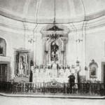 Interno della vecchia chiesa di S. Angelo