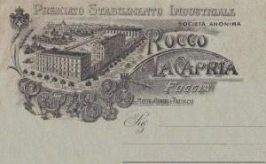 Cartolina pubblicitaria della ditta