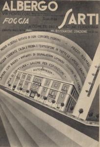 Cartolina pubblicitaria dell'Hotel Sarti