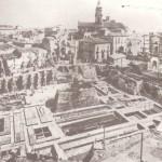 Il cantiere per la costruzione del Municipio (foto degli anni 30)