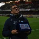 Pasquale Padalino premiato dalle curve prima di Matera Foggia
