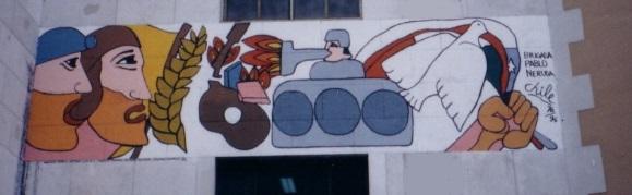 Il murales realizzato su una facciata del Palazzo degli Studi