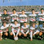 Una formazione del Foggia nell'anno della promozione in A (List in piedi ultimo a destra)