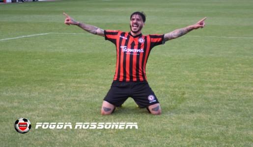 Antonio Vacca dopo il suo gol contro il Martina