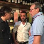 Con l'allenatore del Foggia Roberto De Zerbi