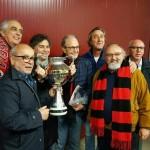 Franco Ordine con amici e colleghi foggiani dopo la finale di Coppa Italia di Lega Pro vinta dal Foggia nel 2016