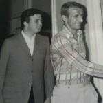 Franco Ordine alla fine degli anni 60 con Giorgio Maioli, l'allora capitano del Foggia
