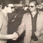 Franco Ordine con Lauro Toneatto, allenatore del Foggia negli anni 70
