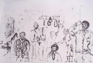 """Il """"Monaco"""" di Borgo Croci (disegno di Maria Pia de Stefano)"""