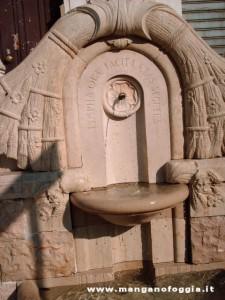 Uno dei fontanini di piazza XX settembre