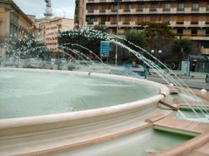 Particolare della Fontana del Sele dopo il restauro del 2007