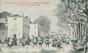 Cartolina raffigurante i Lancieri di Foggia