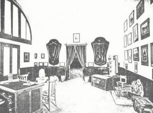 Sala del Museo delle Tradizioni Popolari abbattuto dai bombardamenti del 1943