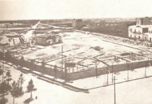 Il cantiere per la costruzione del Palazzo degli Studi