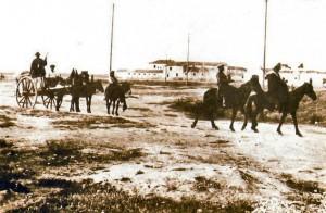 Terrazzani in via S.Severo negli anni 30 - Sullo sfondo il vecchio convento
