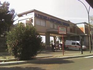 Ingresso Ospedali Riuniti in viale Luigi Pinto