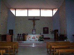 L'interno della chiesa di S. Alfonso