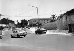 In questa foto del 1980 si possono osservare i lavori per il raddoppio della carreggiata in viale Fortore
